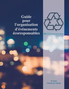 Guide pour l'organisation d'événement écoresponsables